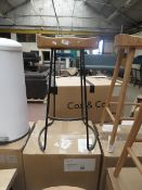 | 1X | COX AND COX WEATHERED OAK AND METAL COUNTER STOOL | LOOKS UNUSED (NO GUARANTEE) & BOXED | RRP