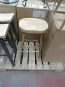 | 1X | COX & COX WEATHERED OAK COUNTER STOOL | SEAT MAY NEED ATTENTION AS IT HAS SOME
