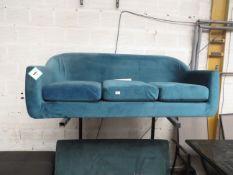 1 x Made.com Walker 3 Seater Sofa Orleans Blue RRP ¶œ599 SKU MAD-SOFBOD004BLU-UK TOTAL RRP ¶œ599