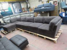 MSTAR 6 piece modular sofa set, no major damage.