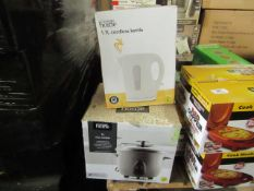| X | VARIOUS ITEMS 1 X RICE COOKER & 1 X CORDLESS KETTLE | UNCHECKED & BOXED | NO ONLINE RESALE |