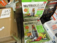 | 3X | VARIOUS NUTRIBULLET ITEMS 1 X 600 SERIES & 2 X STARTER KITS | UNCHECKED AND BOXED | NO ONLINE