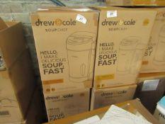 | 2X | DREW & COLE SOUP CHEFS | UNCHECKED & BOXED | NO ONLINE RESALE | RRP £59.99 | TOTAL LOT RRP £