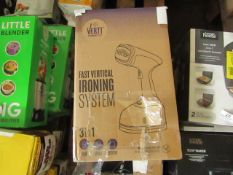 | 2X | VERTI STEAM IRONING SYSTEMS | UNCHECKED & BOXED | NO ONLINE RESALE | RRP £39 | TOTAL LOT