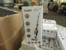 | 5X | GOBLIN FOLDABLE 14.8V STICK VACUUM | SKU 5054781674382 | UNCHECKED AND BOXED | NO ONLINE