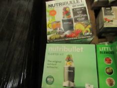 | 2X | VARIOUS NUTRIBULLET 1 X STARTER KIT & 1 X 600 SERIES | UNCHECKED & BOXED | NO ONLINE