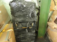 A CAGE CONTAINING VARIOUS VEHICLE MATS. ATLEAST 30 SETS. ALL UNCHECKED BUT LOOK UNUSED