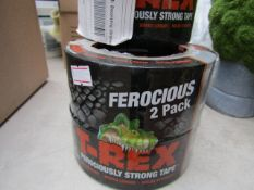 T-REX - Duct Tape (48MM X 10.9M) - (2 Roll Pack) - New & Packaged. RRP £11.