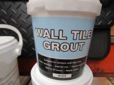 5x Wall Tile Grout (White) - 1KG Tubs - Unused.