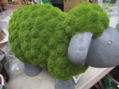 Mossy Sheep Garden Ornament - Good Condition & No Packaging.