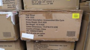   1X   SLIM CYCLE EXERCISE MACHINE   UNCHECKED AND BOXED   NO ONLINE RE-SALE   SKU-   RRP£199.99  