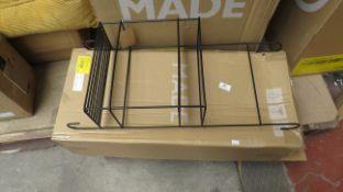1 x Made.com MADE Essentials Calypso Metal Shower Caddy Black RRP £29 SKU MAD-AP-BTACAL003BLK-UK
