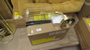 1x made.com dia wall lamp glass & brass. This lot is a CUSTOMER RETURN. We have checked this item