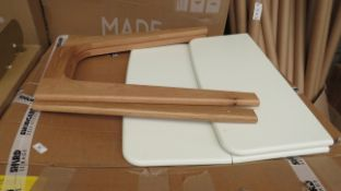   1X   MADE.COM FJORD 2-4 SEAT RECTANGULAR GATELEG TABLE   WHITE & OAK   UNCHECKED & BOXED   RRP £