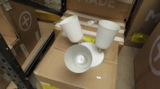 1 x Made.com Norah Bathroom Triple Flush Light Warm Grey & Brushed Brass RRP £69 SKU MAD-