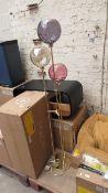 1 x Made.com Ilaria Floor Lamp Triple Multicolour Pink & Brass RRP £169 SKU MAD-FLPILA025PNK-UK