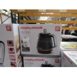 Morphy Richards Illumination 1.7L jug kettle in black, brand new and boxed. RRP £39.99