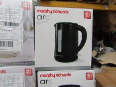 Morphy Richards Arc 1.7L jug black kettle, brand new and boxed. RRP £26.99