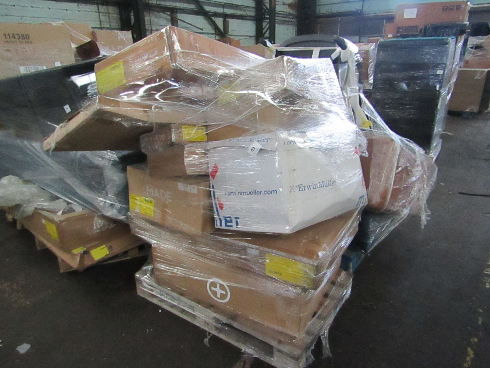 Mixed pallet of Made.com customer returns to include 11 items of stock with a total RRP of