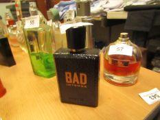 Diesel Bad Eau De Parfum Pour Homme 75ml approx 70% Full