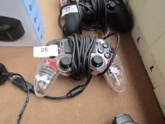 Nacon Wired Compact Controller for PS4 - Clear & Illuminated - Untested & No Box - RRP £25