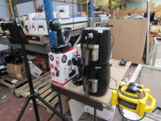 This lot is 4 items - 2x Gourmia Air fryers & 2x DeLonghi Dolce Gusto coffee machines - Please be