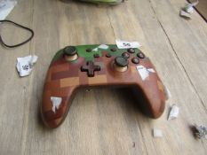 Nintendo Switch Controller Minecraft Design - Untested & Unboxed - Does have damage to the battery
