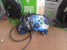 Power A Wired Xbox Controller - Works with series X/S And Xbox One - Metallic Blue Camo -