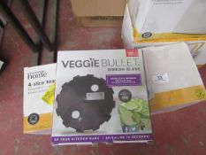   10X   VEGGIE BULLET RIBBON BLADES   NEW AND BOXED   NO ONLINE RESALE   SKU -   RRP £-   TOTAL