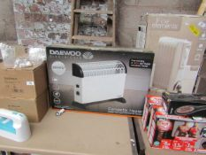   1X  DAEWOO ELECTRICALS 2000W CONVECTOR HEATER   UNCHECKED & BOXED   NO ONLINE RESALE   SKU