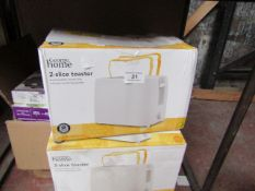   3X   2 SLICE TOASTER   UNCHECKED & BOXED   NO ONLINE RESALE   SKU C054781630449   LOAD REFERENCE