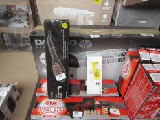   2X   ITEMS BEING; HAIR STRAIGHTENING BRUSH WITH A DETAIL TRIMMER   UNCHECKED & BOXED   NO ONLINE