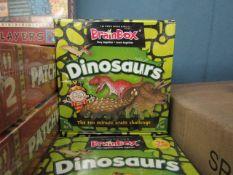 2x Brainbox - Dinosaurs Quiz Game - New & Packaged.