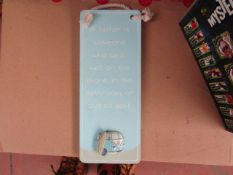 """8x """"A Father Is """" hanging signs - New & Packaged."""