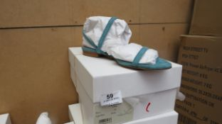 L K Bennett London River Light Blue Suede Shoes size 36 RRP £150 new & boxed see image for design