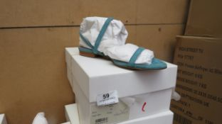 L K Bennett London River Light Blue Suede Shoes size 37 RRP £150 new & boxed see image for design