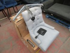 1 x Made.com Flynn Office Chair Persian Grey RRP £169 SKU MAD-AP-CHAFLN066GRY-UK TOTAL RRP £169 This
