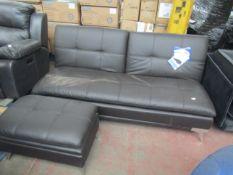 Sealy sofa convertible with ottoman, no major damage. RRP £555