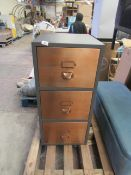  1X   MADE.COM STOW FILING CABINET, VINTAGE BRASS   HAS A SCUFF ON THE TOP NOTHING TOO SERIOUS  