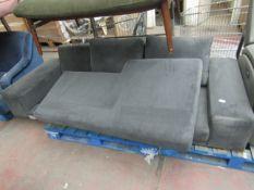 1 x SWOON Tulum Right-Hand MTO Corner Sofa in Fern EasyVelvet RRP £1599 SKU SWO-