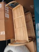   1X   MADE.COM BABBO RATTAN FREE STANDING STORAGE SHELF   UNCHECKED & BOXED   RRP £79  