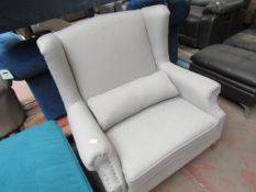 1 x Cox & Cox Ana Oversized Armchair Grey RRP £1,225,00 SKU COX-1220893 TOTAL RRP £995 This lot is a