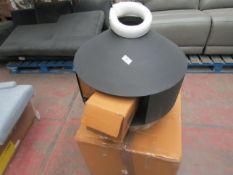 1 x Made.com Abura Metal Chimenea with Brass Base Black & Brass RRP £169 SKU MAD-IACABU001BLK-UK