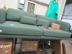 1 x Made.com Herman 3 Seater Sofa, Woodland Green RRP £599 SKU MAD-SOFHRM036GRE-UK TOTAL RRP £599