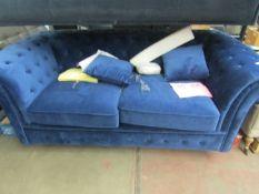 1 x Made.com Branagh Sofa Bed Electric Blue Velvet RRP £1199 SKU MAD-SOFBRA039BLU-UK TOTAL RRP £1199