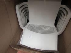 1 x Made.com Nardi Set of 6 Chairs, White Fibreglass & Resin RRP £369 SKU MAD-CHANAR014WHI-UK