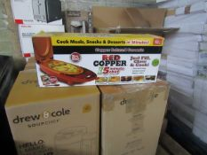 | 4X | RED COPPER 5 MINUTE CHEFS | UNCHECKED & BOXED | NO ONLINE RESALE | RRP £29.99 | TOTAL LOT RRP