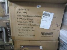 | 2X |EMERIL LAGASSA PRESSURE AIRFRYERS | UNCHECKED & BOXED | NO ONLINE RESALE | RRP £99 | TOTAL LOT
