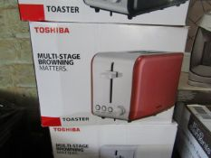 | 5X | TOSHIBA 2-SLICE STAINLESS STEEL TOASTER | UNCHECKED & BOXED | NO ONLINE RESALE | RRP £25 |