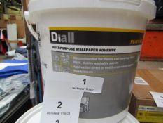 Diall - Multi-Purpose Wallpaper Adhesive 3.5KG Ready Mix - Unused.